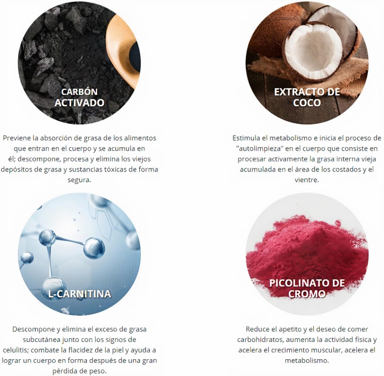 black latte ingredientes